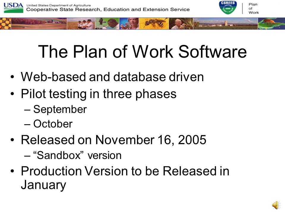 Plans for Next Plan of Work Cycle Ease the burden on the States Easier to review Easier to track progress Easier to analyze the data