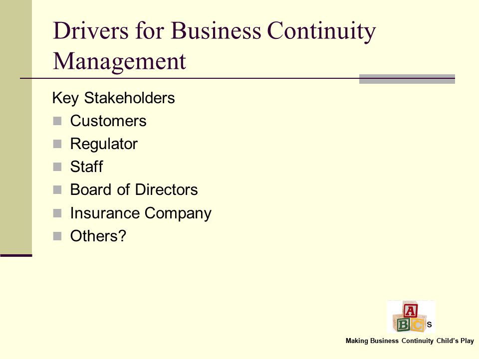 What is Business Continuity Management.