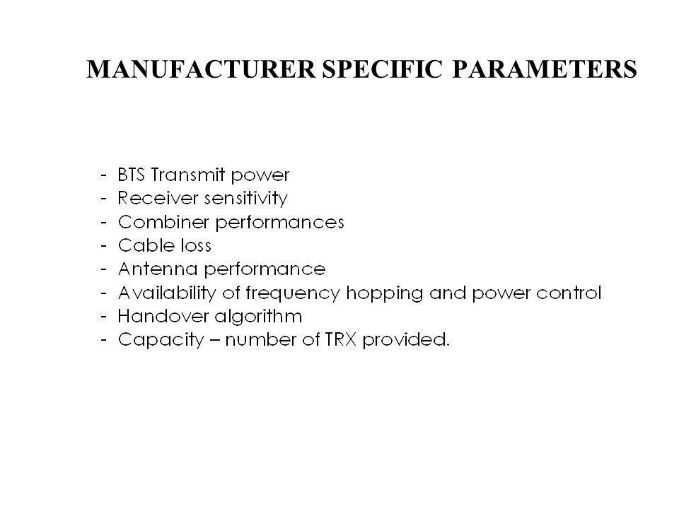 MANUFACTURER SPECIFIC PARAMETERS