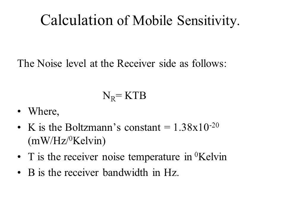 Calculation of Mobile Sensitivity.