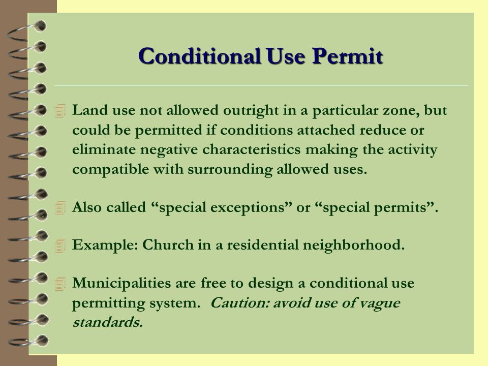 Zoning Authorizations Zoning ordinance includes: 4 Minimum lot size, lot width/depth, setbacks between structures, maximum building height, max/min lot coverage, and signage.