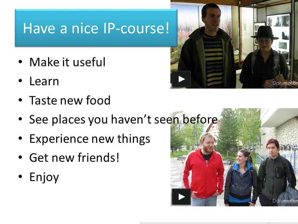 Have a nice IP-course.