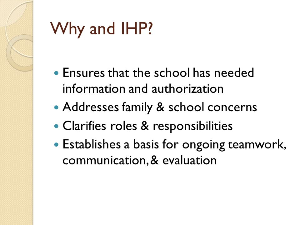 Why and IHP.