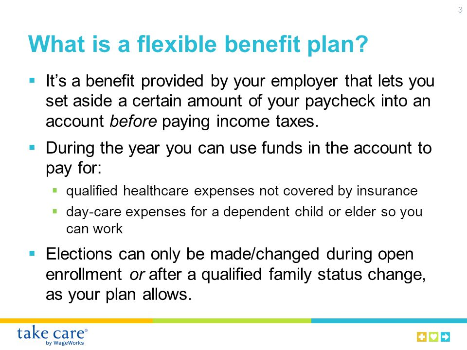 What is a flexible benefit plan.