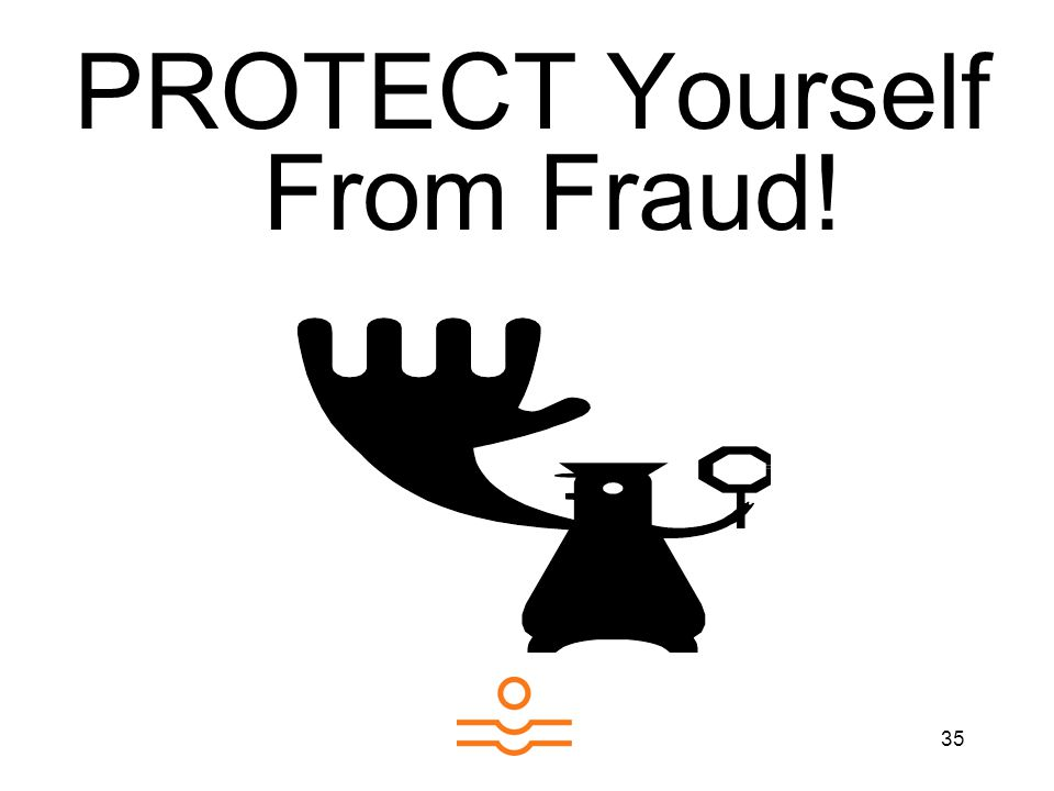 35 PROTECT Yourself From Fraud!