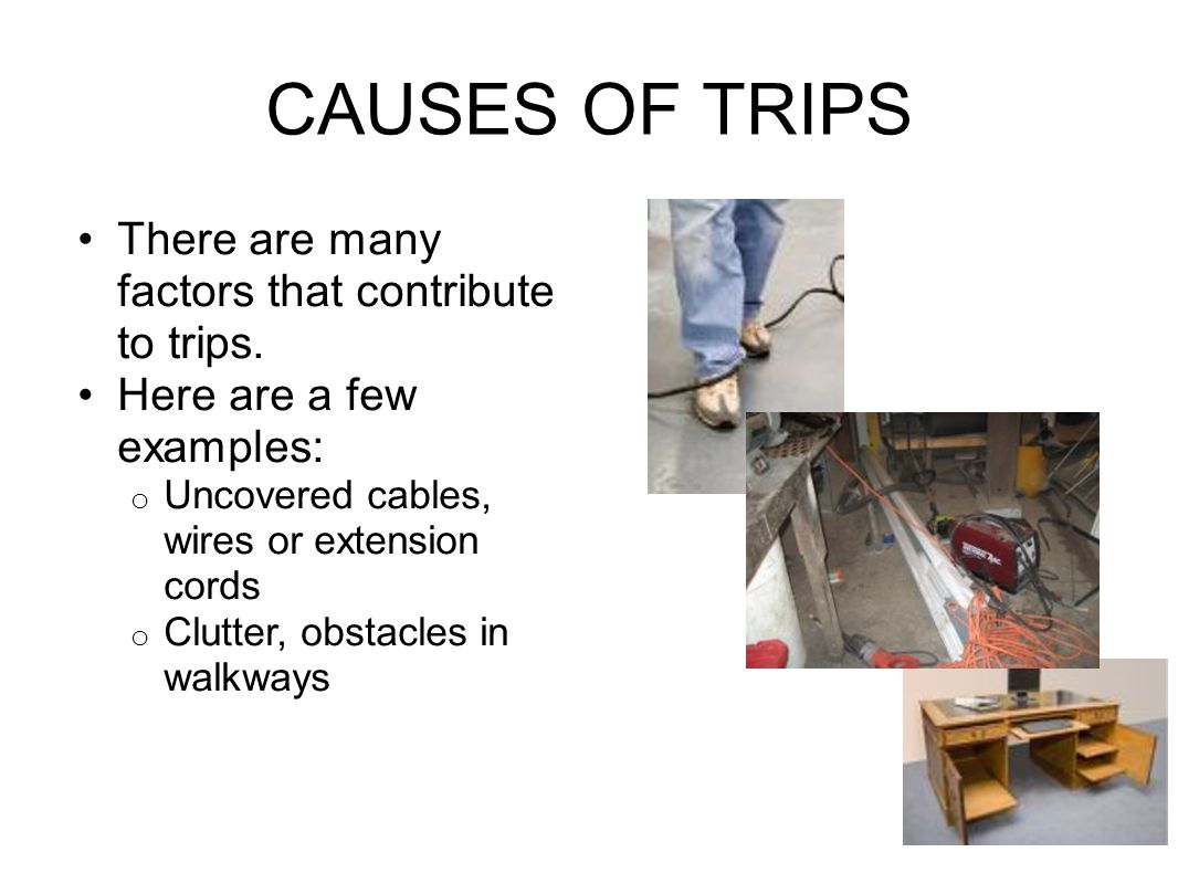 CAUSES OF TRIPS There are many factors that contribute to trips.