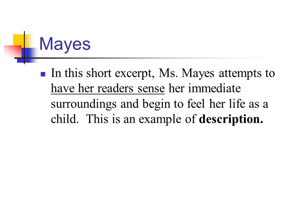Mayes In this short excerpt, Ms.