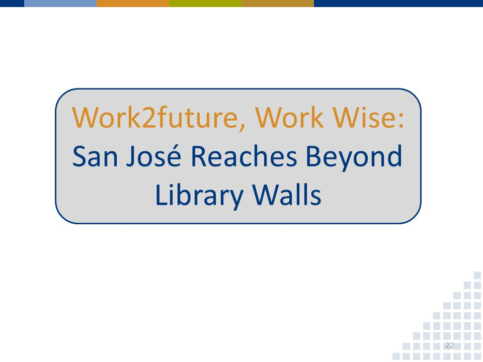 Work2future, Work Wise: San José Reaches Beyond Library Walls 22