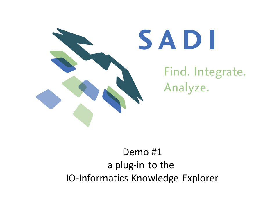 Demo #1 a plug-in to the IO-Informatics Knowledge Explorer