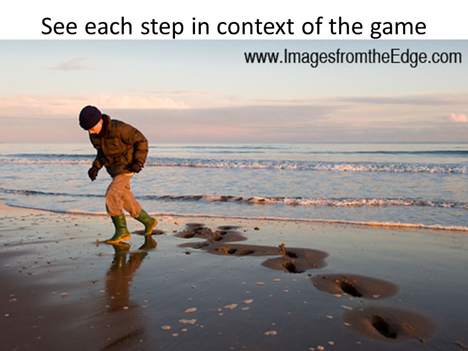 See each step in context of the game