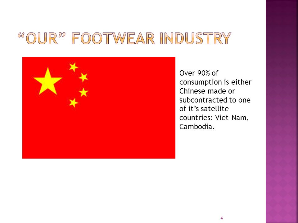 Over 90% of consumption is either Chinese made or subcontracted to one of its satellite countries: Viet-Nam, Cambodia.