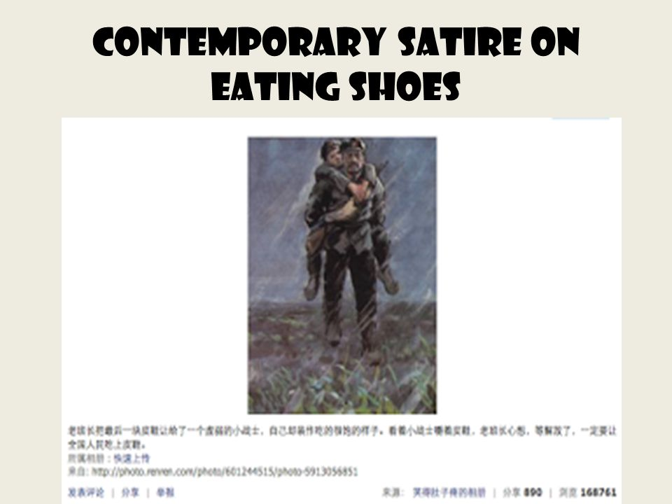 Contemporary Satire on Eating Shoes