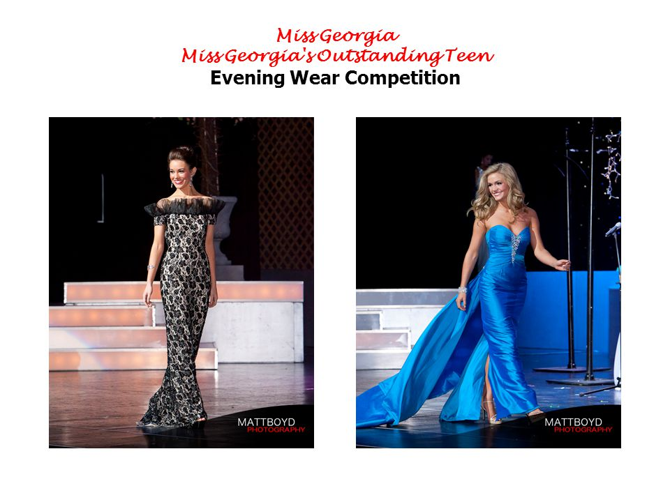 Miss Georgia Miss Georgia s Outstanding Teen Evening Wear Competition