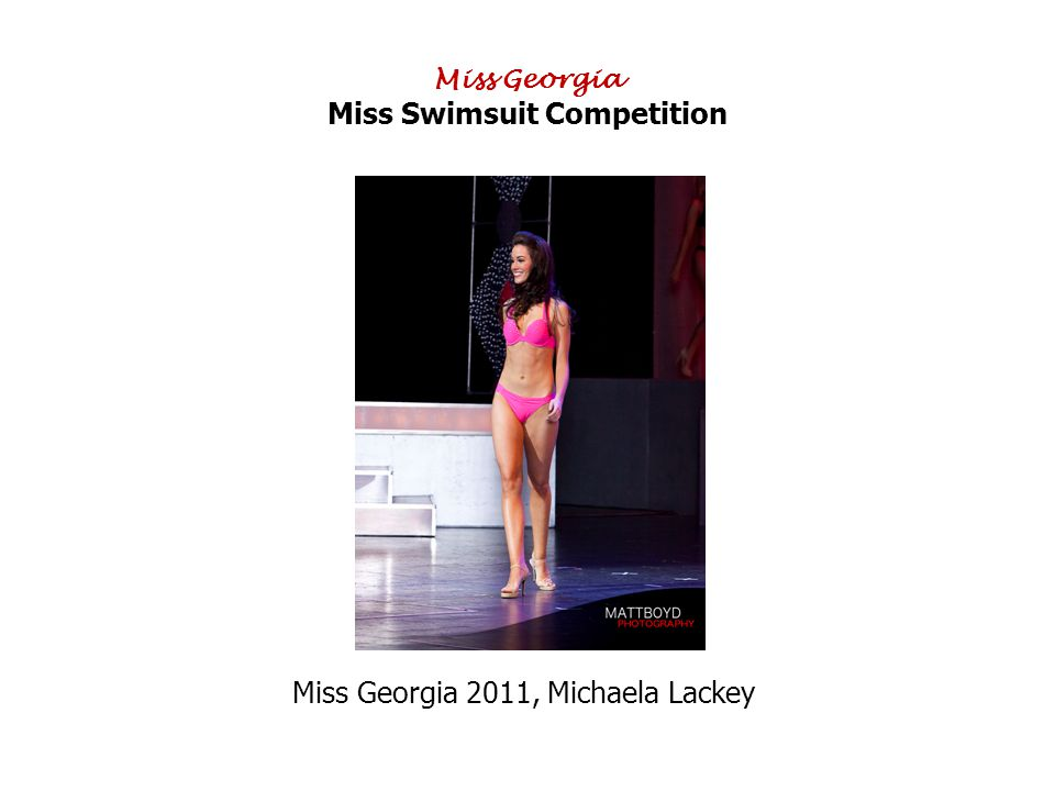 Miss Georgia Miss Swimsuit Competition Miss Georgia 2011, Michaela Lackey