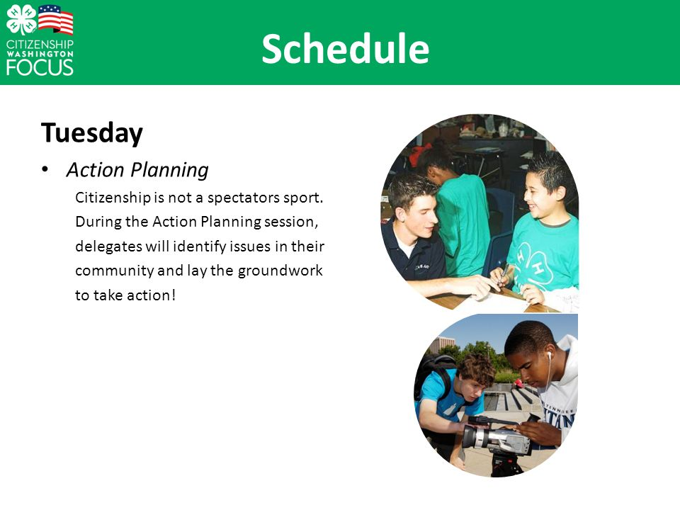 Tuesday Action Planning Citizenship is not a spectators sport.