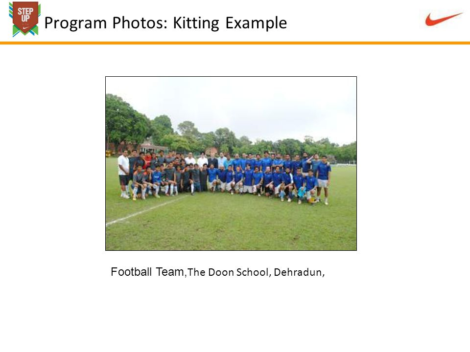 Program Photos: Kitting Example Football Team, The Doon School, Dehradun,