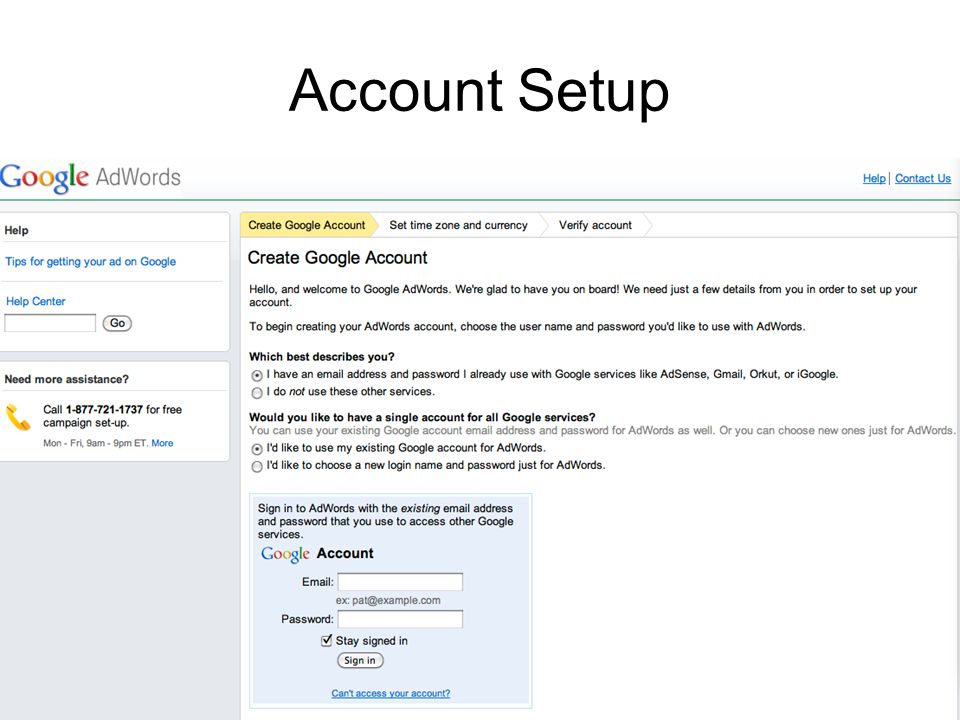 Account Setup
