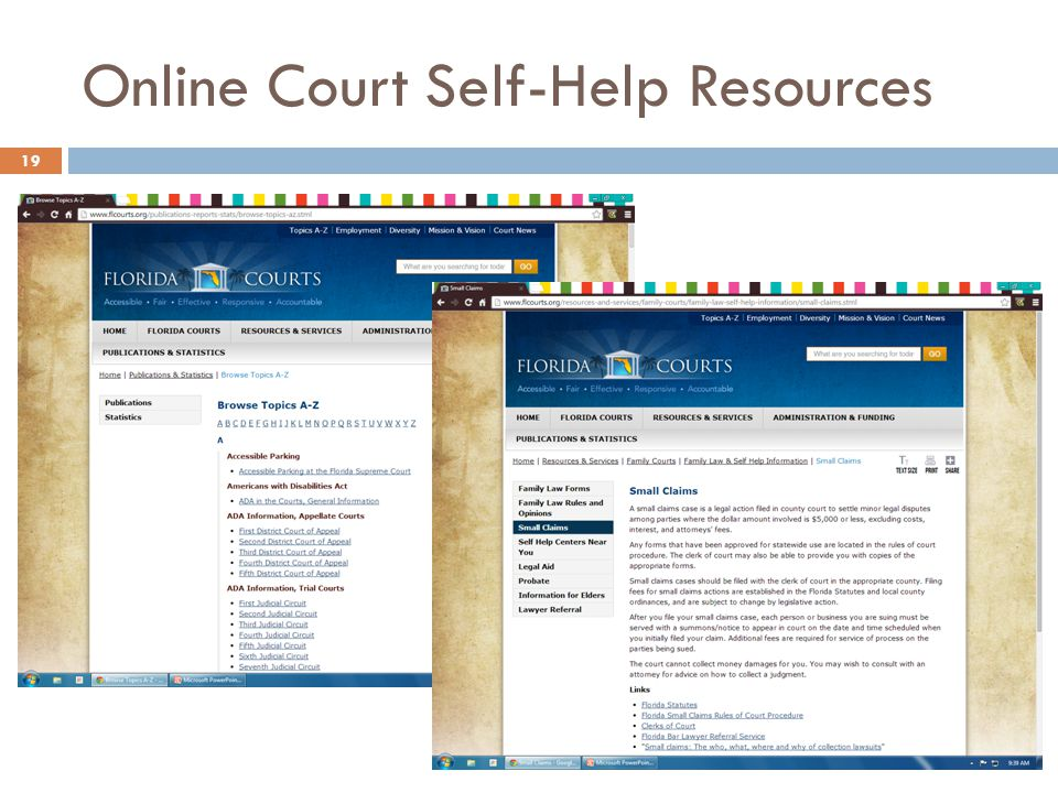 Online Court Self-Help Resources 19