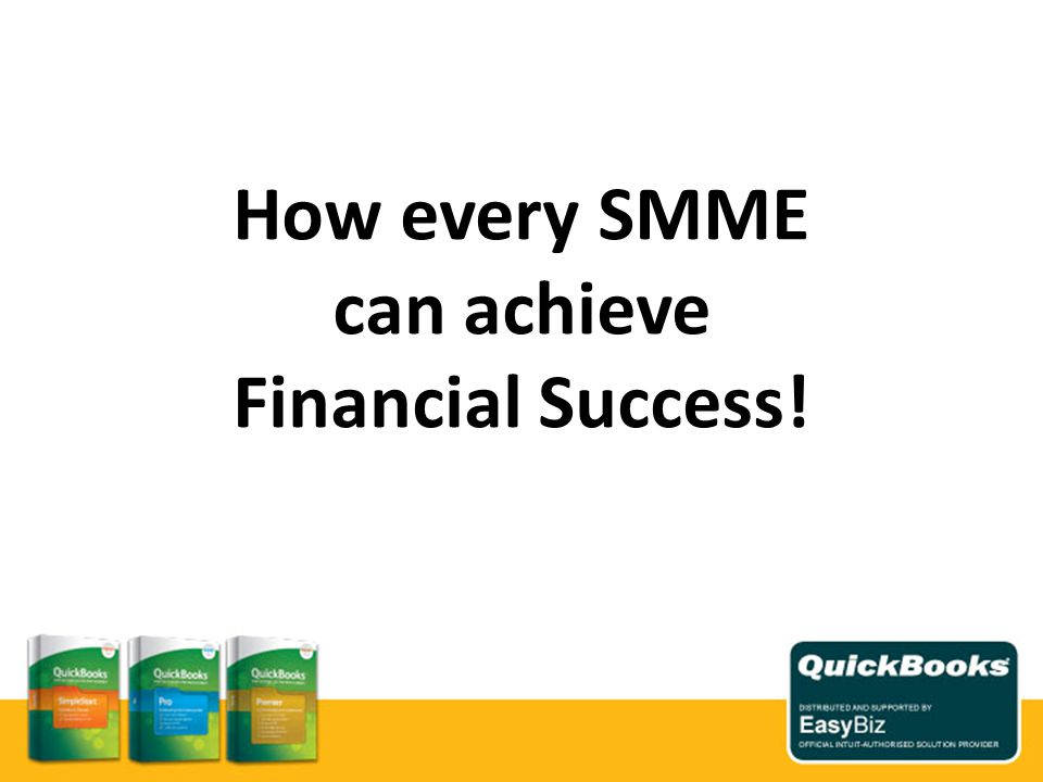 How every SMME can achieve Financial Success!