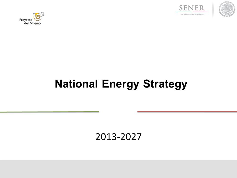 National Energy Strategy 2013-2027