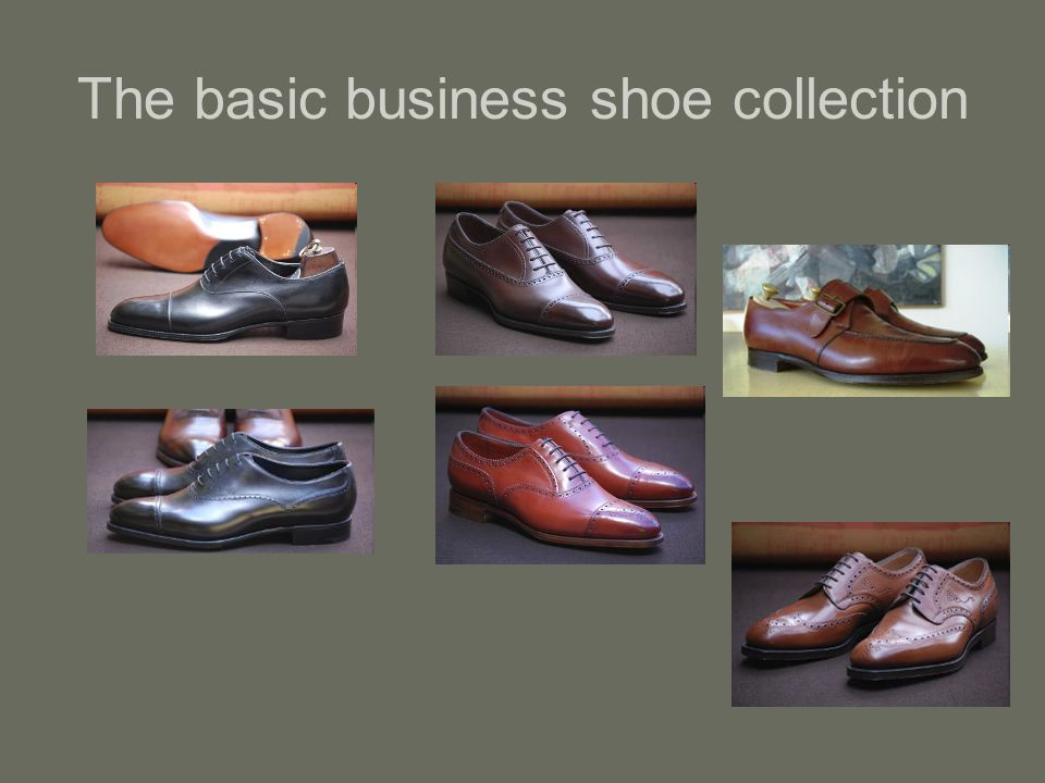 The basic business shoe collection