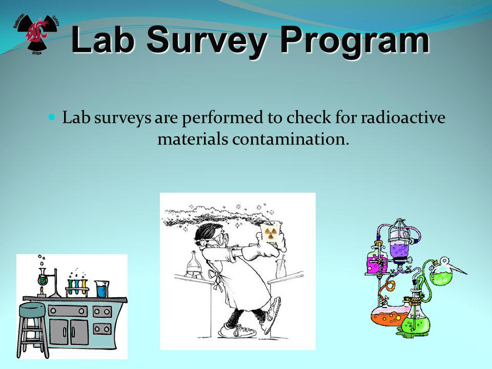 Lab Survey Program Why do we need to do lab surveys Why do we need to do lab surveys