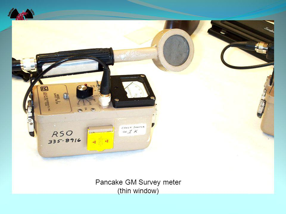 RADIATION MONITORING & SURVEILLANCE Other Survey Meters used for special purposes Dose rate meters – For Radiation Fields Alpha Meters Neutron Meters