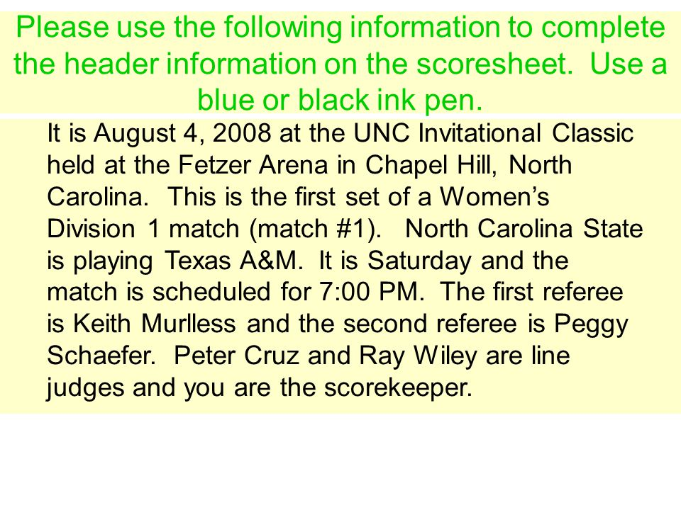 It is August 4, 2008 at the UNC Invitational Classic held at the Fetzer Arena in Chapel Hill, North Carolina.