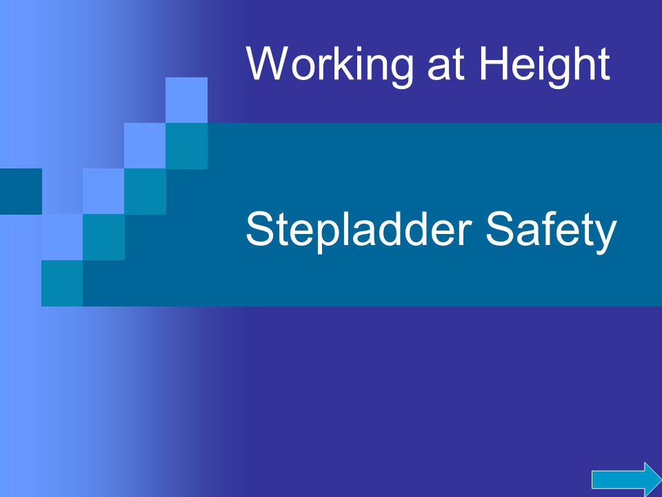 Working at Height Stepladder Safety