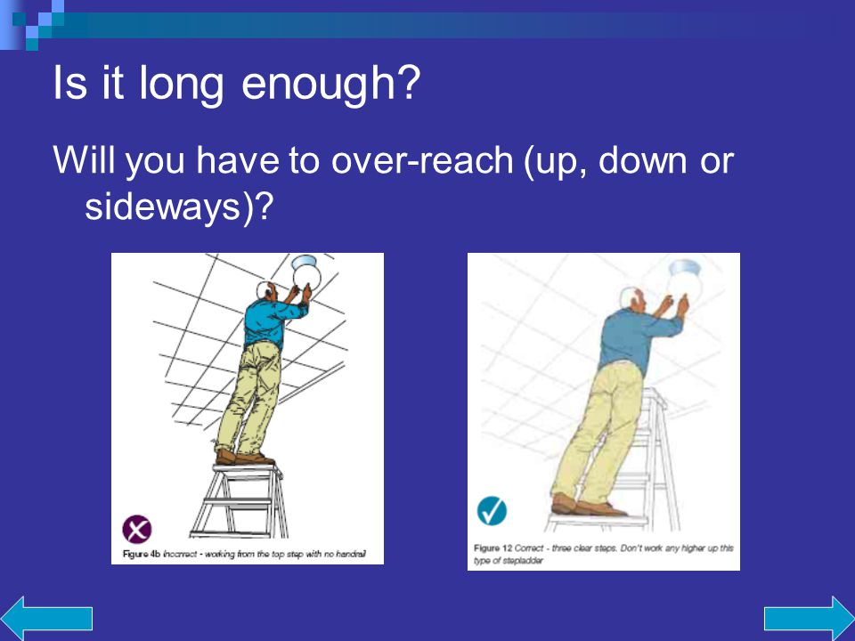 Is it long enough Will you have to over-reach (up, down or sideways)