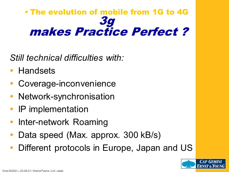 Nice 3G2001 – 23-05-01 / Mobile Future / JvK – sba4 Practice makes Perfect … Call back for GPRS devices in UK Call back for UMTS devices in UK (Is.
