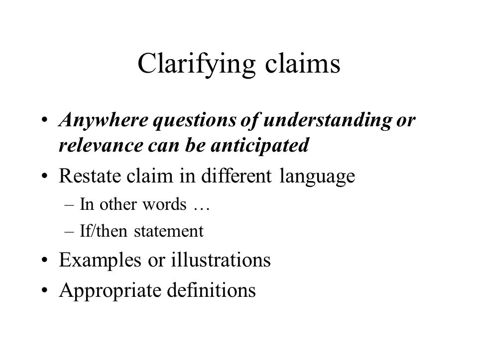 critical statement examples