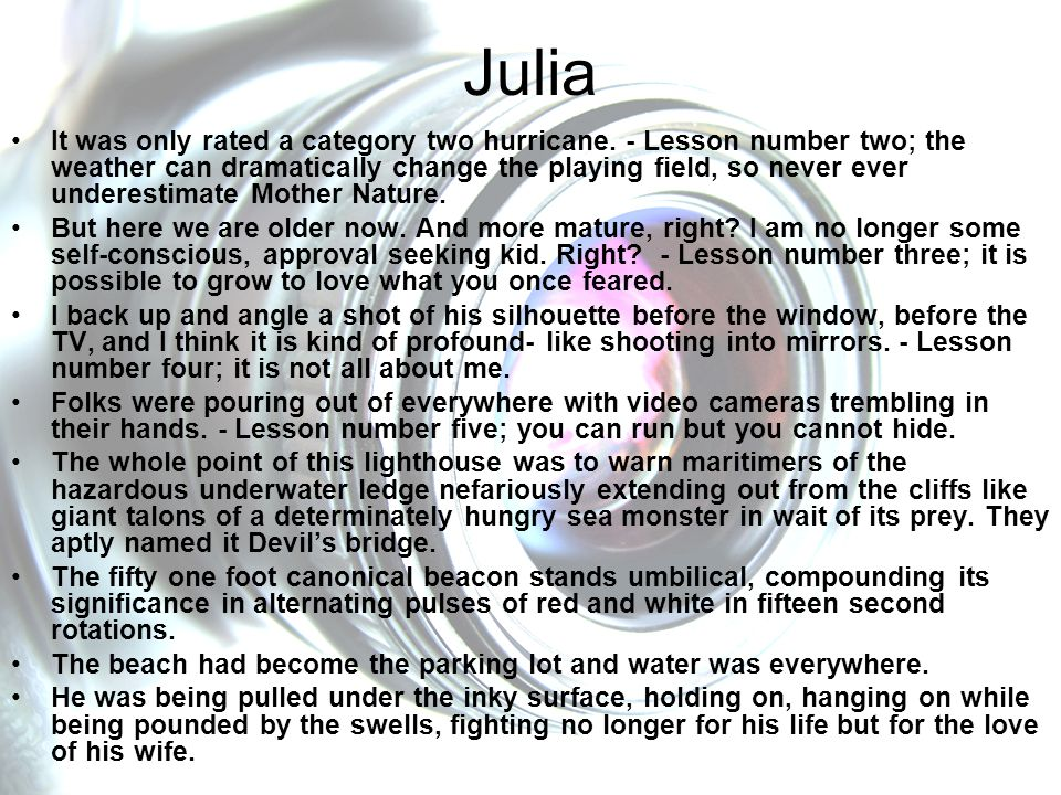 Julia It was only rated a category two hurricane.