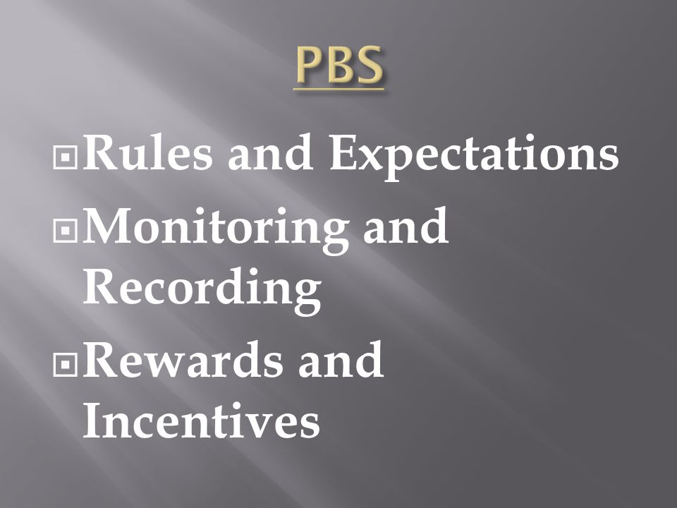 Rules and Expectations Monitoring and Recording Rewards and Incentives