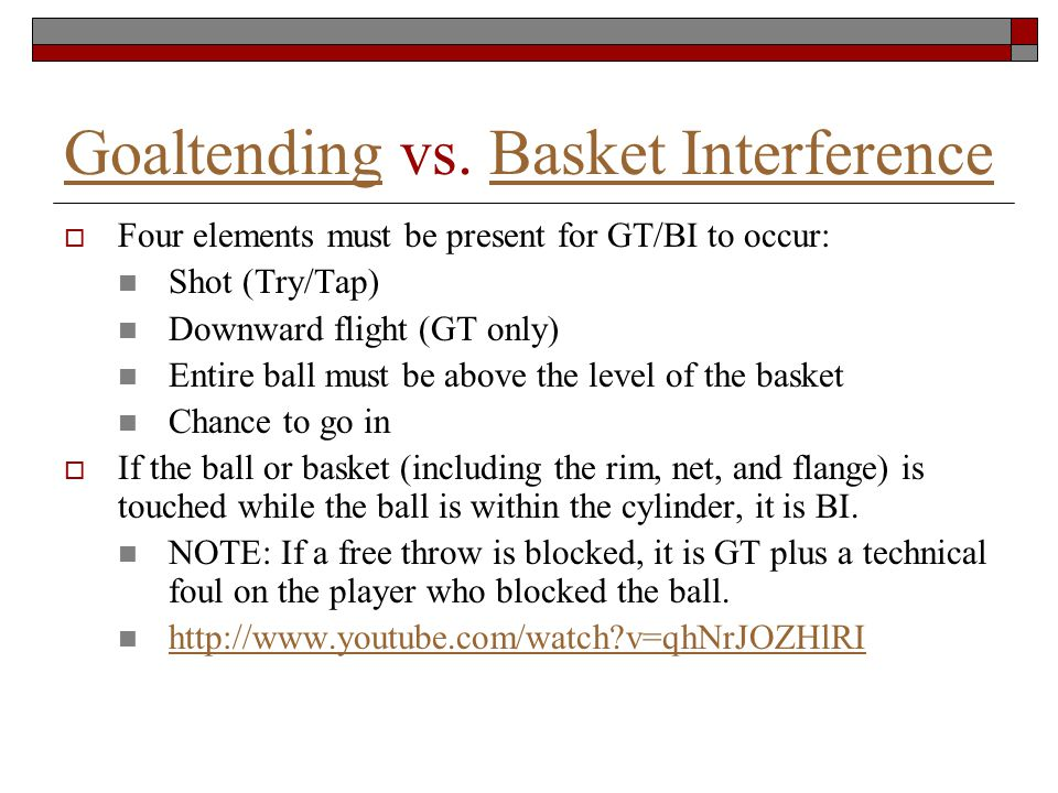 GoaltendingGoaltending vs.
