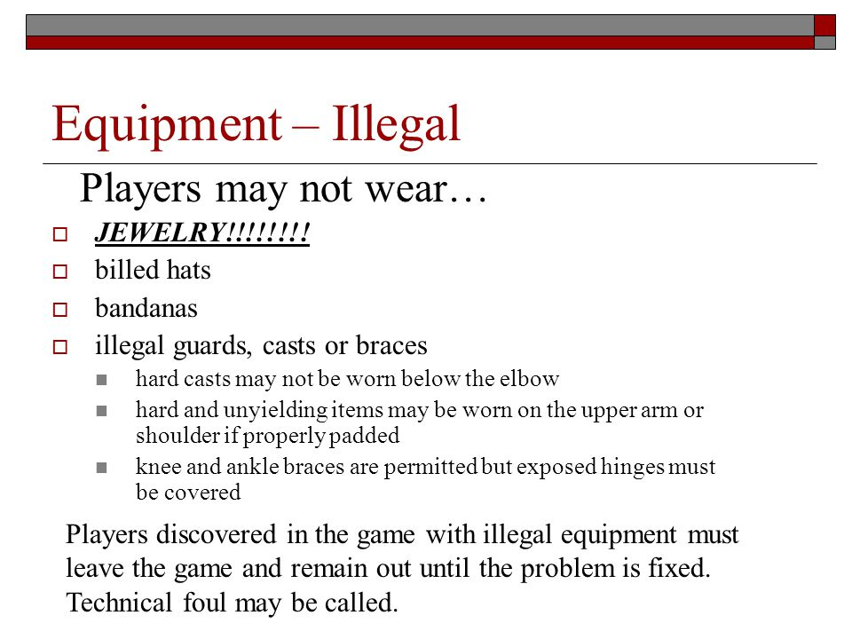 Equipment – Illegal JEWELRY!!!!!!!.