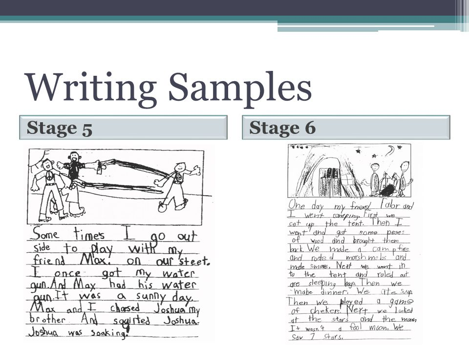 Writing Samples Stage 5 Stage 6