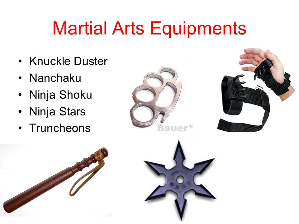 Martial Arts Equipments Knuckle Duster Nanchaku Ninja Shoku Ninja Stars Truncheons