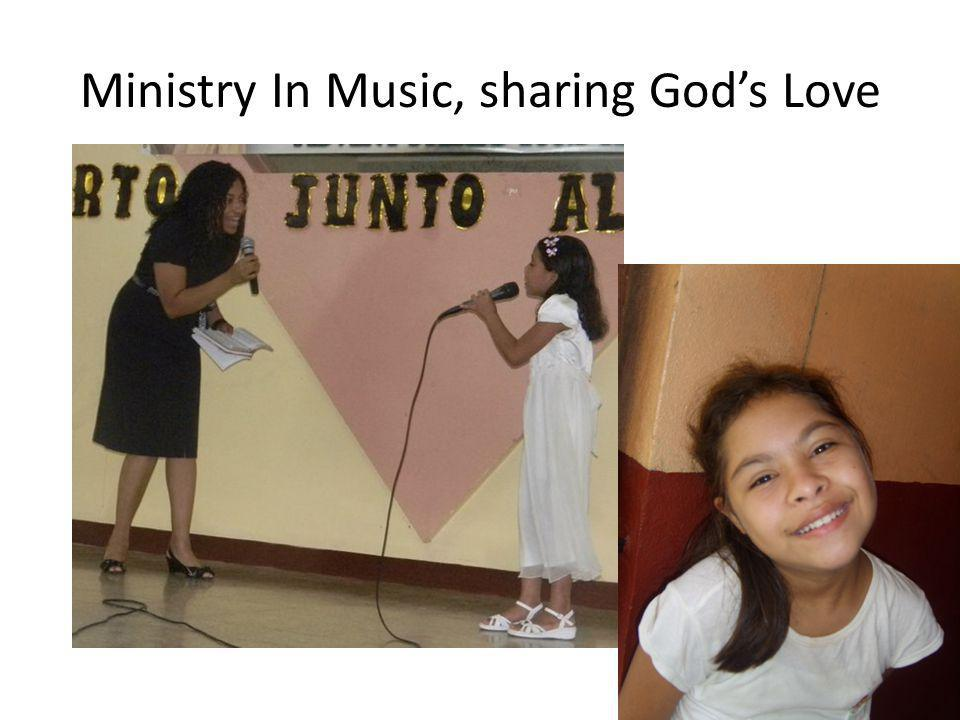 Ministry In Music, sharing Gods Love