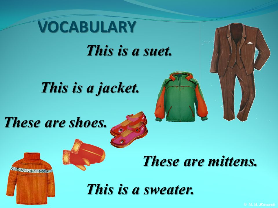 VOCABULARY These are trousers. This is a dress. This is a blouse.