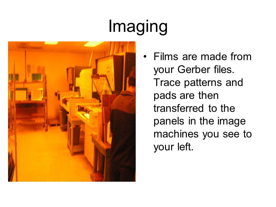 Imaging Films are made from your Gerber files.