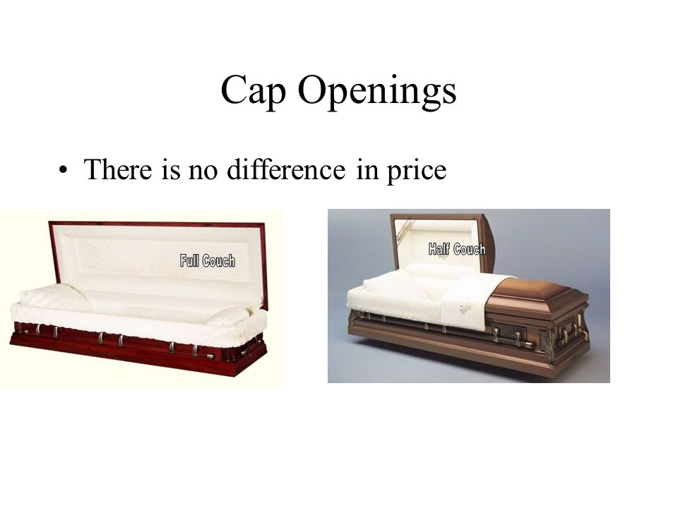 Cap Openings There is no difference in price