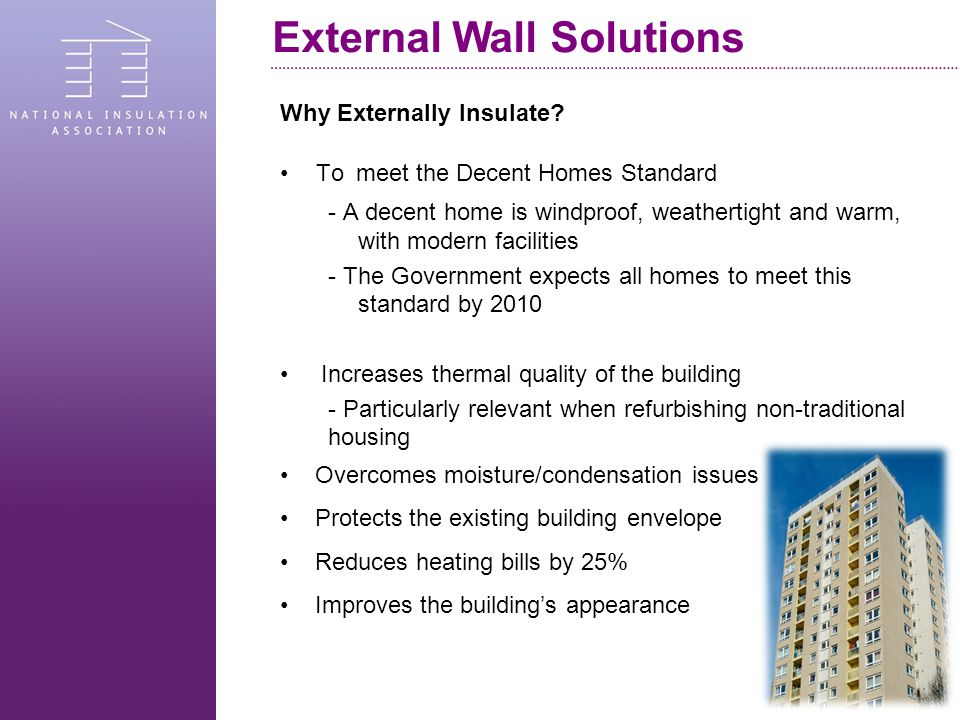 Why Externally Insulate.