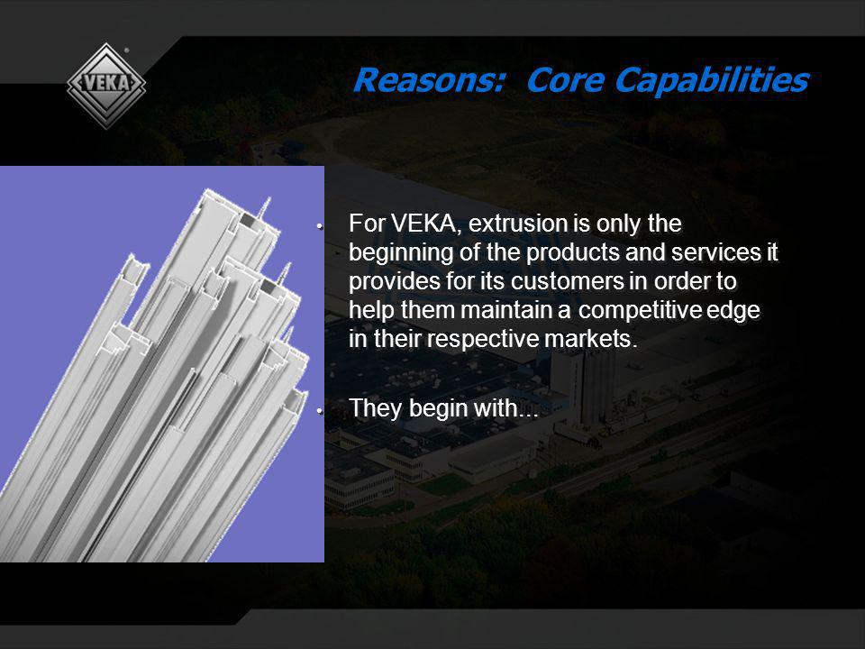 For VEKA, extrusion is only the beginning of the products and services it provides for its customers in order to help them maintain a competitive edge in their respective markets.