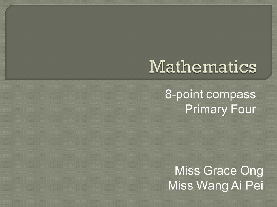 8-point compass Primary Four Miss Grace Ong Miss Wang Ai Pei