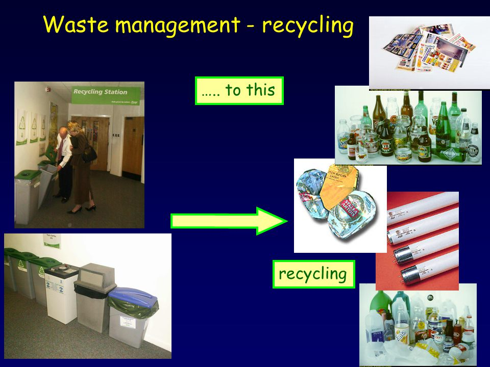 Waste management - recycling recycling ….. to this