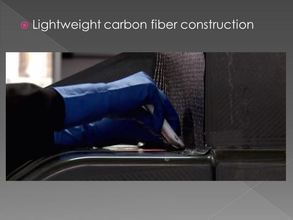 Lightweight carbon fiber construction