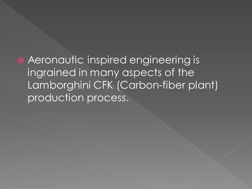 Aeronautic inspired engineering is ingrained in many aspects of the Lamborghini CFK (Carbon-fiber plant) production process.