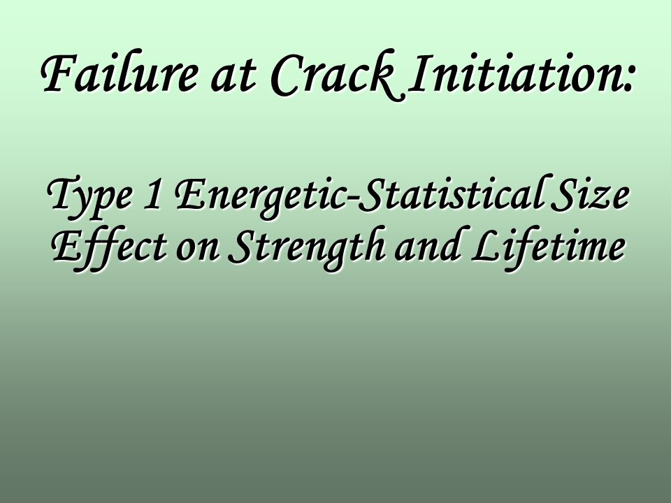 scaling of structural strength bazant zdenek p