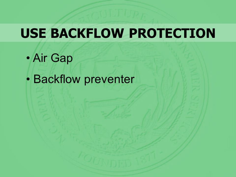 Air Gap Backflow preventer USE BACKFLOW PROTECTION